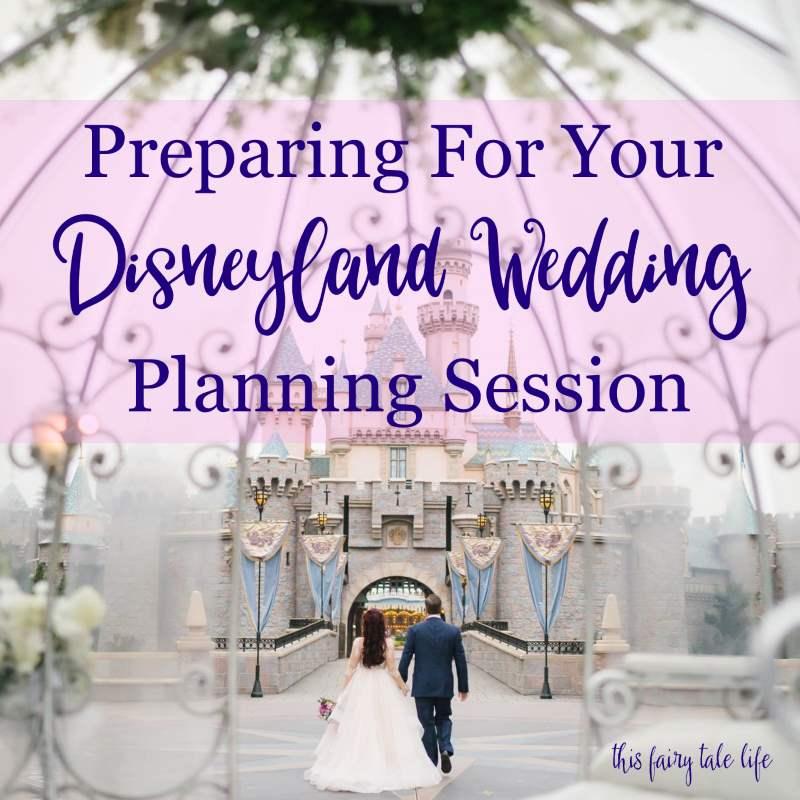 Preparing for Your Disneyland Wedding Planning Session