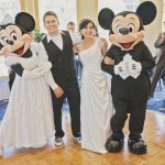 Mandi and Steve's Bright and Cheerful Springtime Disneyland Wedding