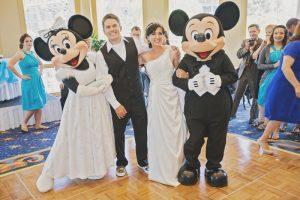 Mandi and Steve's Bright and Cheerful Springtime Disneyland Wedding
