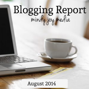 Blogging Report – August 2014