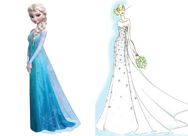 First Look at Elsa Inspired Wedding Gown from Alfred Angelo