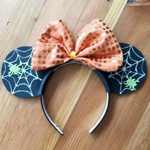 DIY Spiderweb Mickey Ears for Halloween
