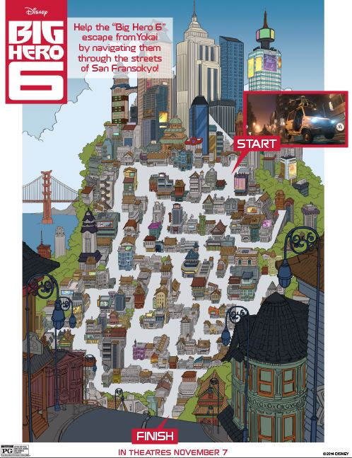Big Hero 6 Printable Activity Sheets