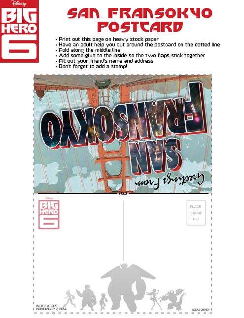 Big Hero 6 Activity Sheets