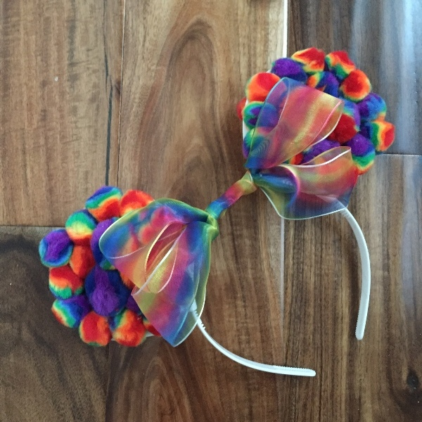 DIY Rainbow Mickey Ears