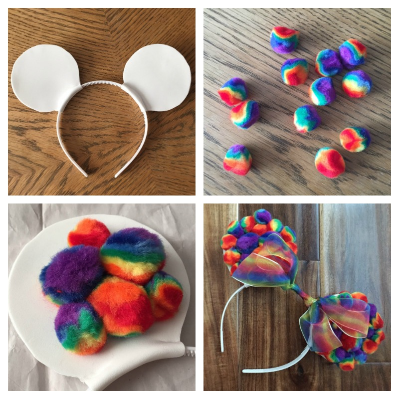 Diy Rainbow Mickey Ears This Fairy Tale Life
