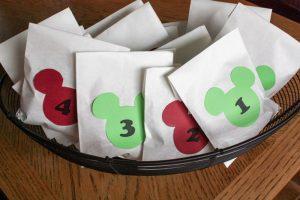 "DIY ""Trivia and Treats"" Mickey Advent Calendar"