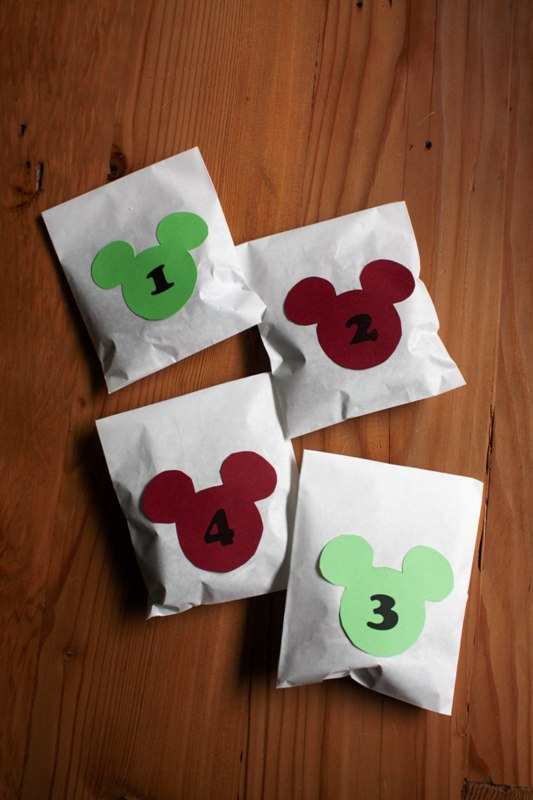 "DIY ""Trivia and Treats"" Mickey Advent Calendar"