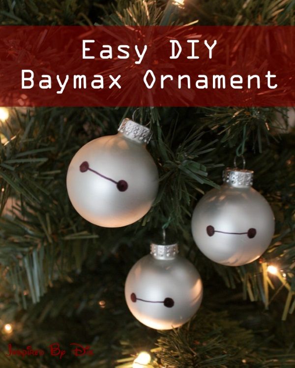 DIY Baymax Christmas Ornaments