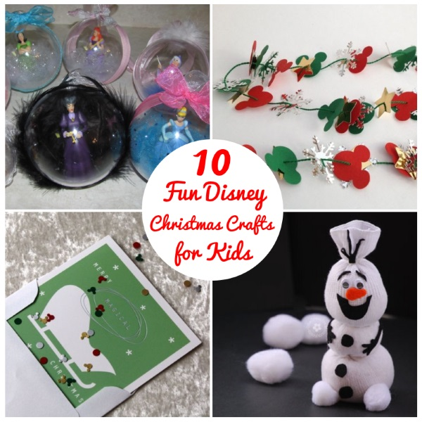 10 Fun Disney Christmas Crafts for Kids