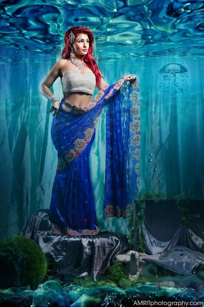 Ariel - Disney Princesses Reimagined as Indian Brides // Photo by Amrit Grewal