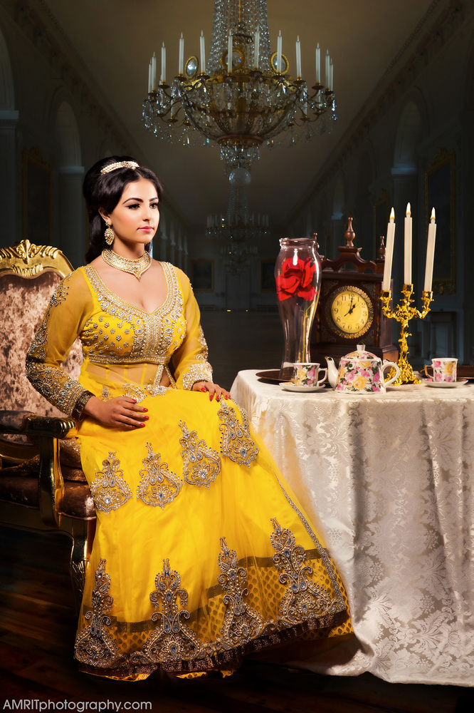 Belle - Disney Princesses Reimagined as Indian Brides // Photo by Amrit Grewal