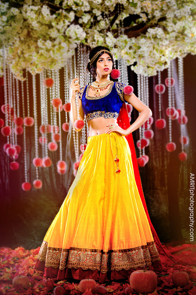Snow White - Disney Princesses Reimagined as Indian Brides // Photo by Amrit Grewal