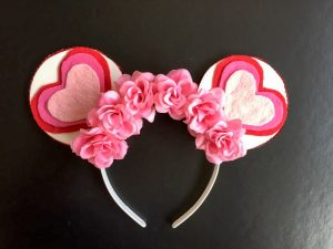 DIY Ombre Heart Valentine's Day Mickey Ears