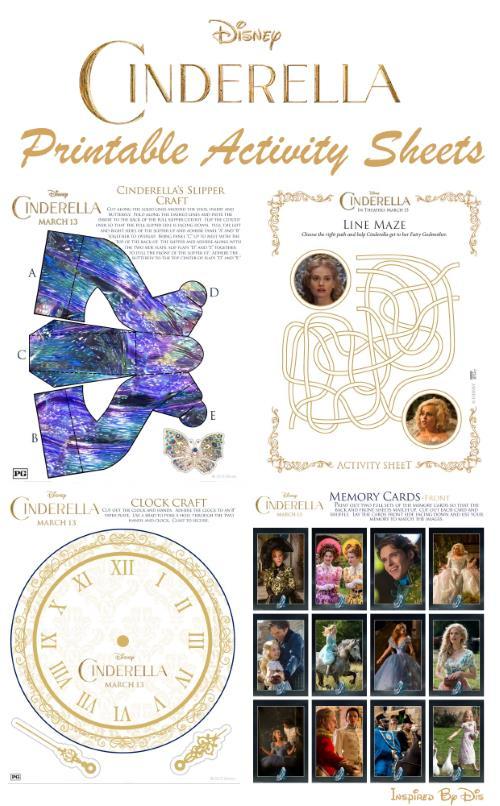 Cinderella Printable Activity Sheets