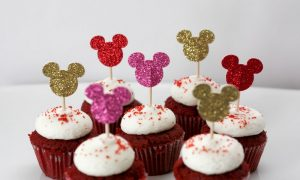 DIY Glitter Mickey Cupcake Toppers