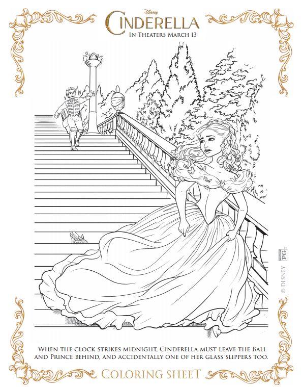 Cinderella Coloring Pages Image