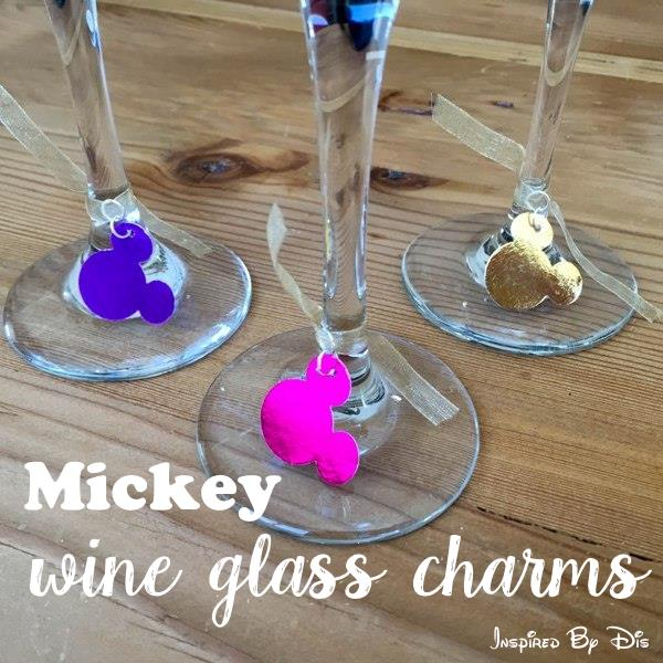 DIY Mickey Wine Glass Charms