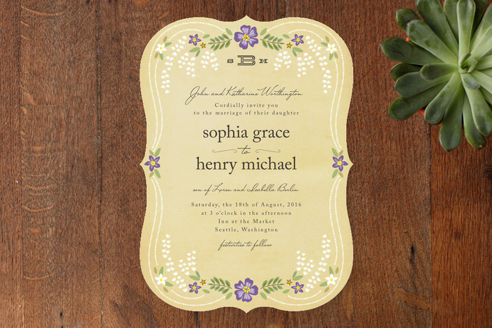 Fairy Tale Wedding Invitations From