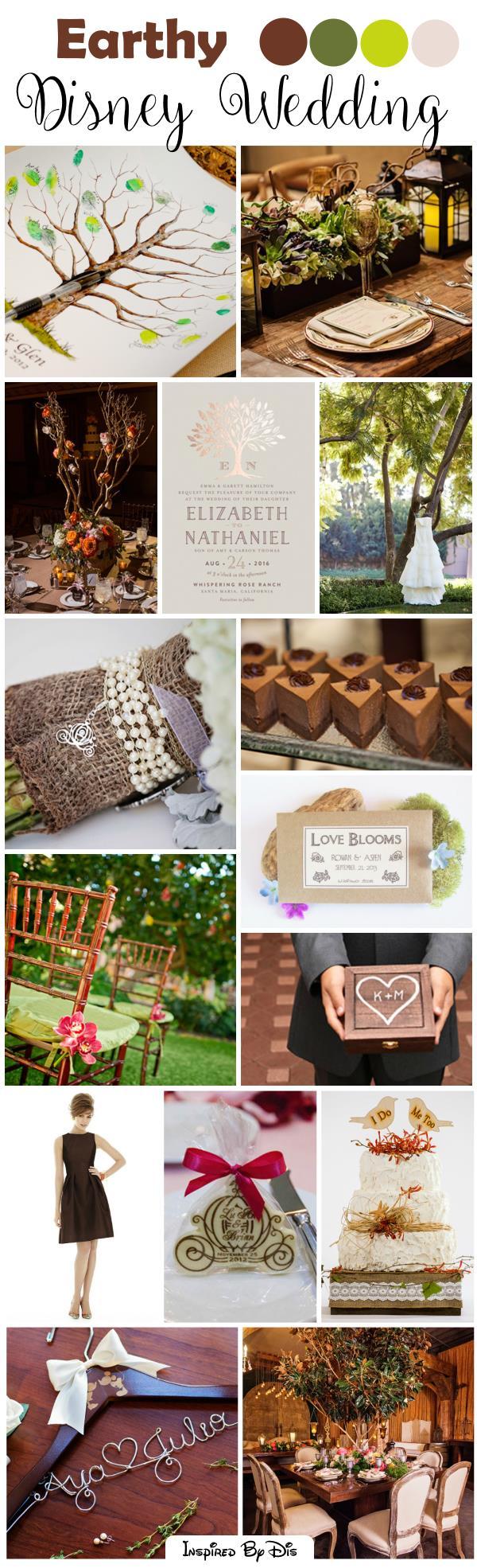 Natural, Earthy Disney Wedding Inspiration