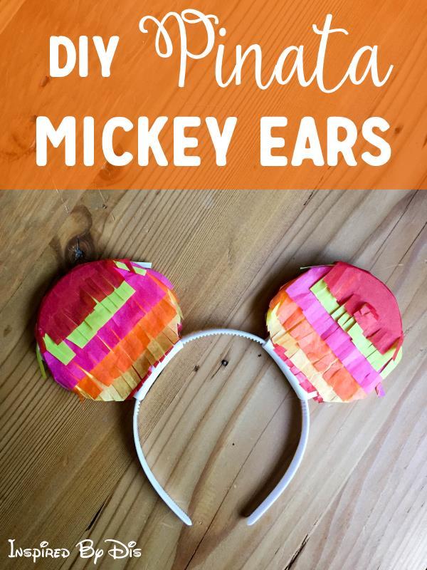 DIY Pinata Mickey Ears