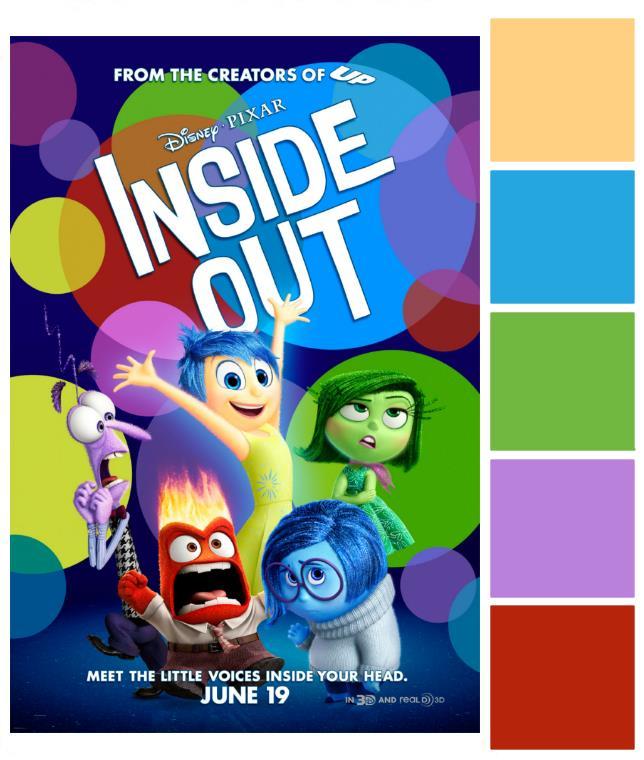 Poster Palette - Inside Out Wedding Inspiration