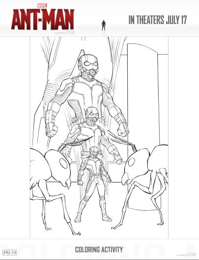 Ant-Man Activities and Coloring Pages