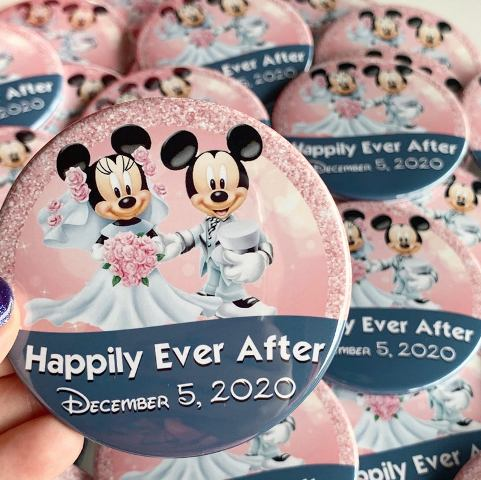 """Pile of buttons that read """"Happily Ever After"""""""