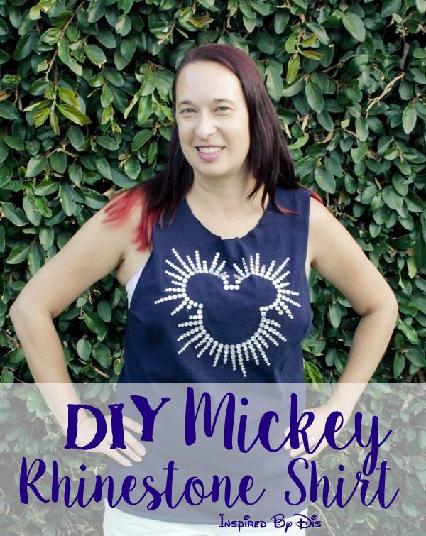 DIY Mickey Rhinestone Shirt