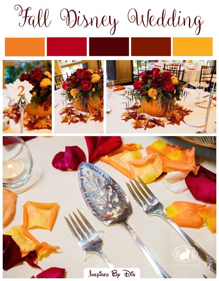 A Disney Wedding Fall Color Palette
