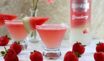 Strawberry Watermelon Lemonade Daiquiris