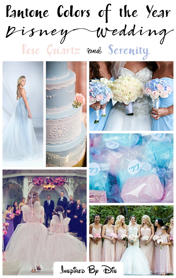 2016 Pantone's Colors of the Year are Perfect for Disney Weddings