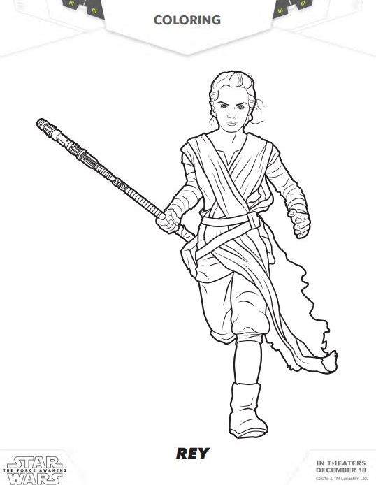 STAR WARS: THE FORCE AWAKENS Coloring Pages and Activity Sheets