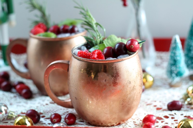 Cranberry Raspberry Moscow Mule