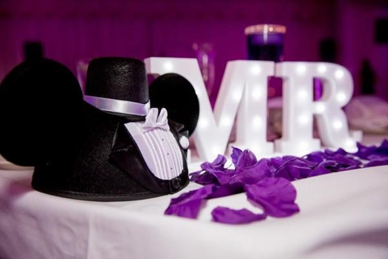 A Royal Purple Diy Disney Wedding Capturing The Bliss Photography