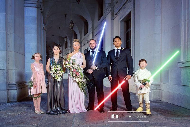 The Force is Strong with this Star Wars Fantasy Wedding Photo Shoot // Tim Souza Photography