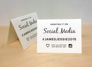 Wedding Hashtag Tent Card