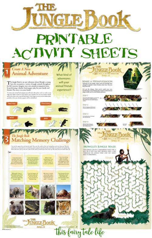 photo relating to Printable Activity Books named The Jungle Guide Printable Routines - This Fairy Story Everyday living