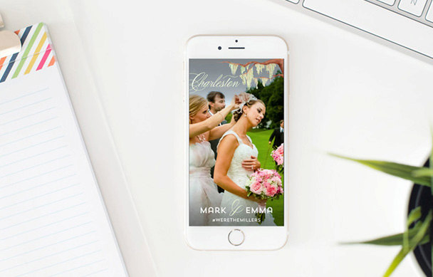 How to make a snapchat filter for a wedding