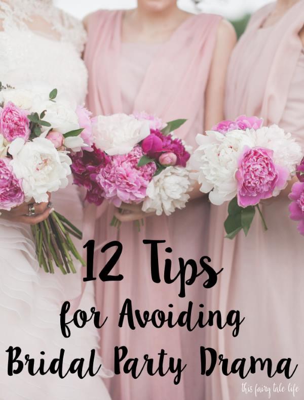 12 Tips for Avoiding Bridal Party Drama