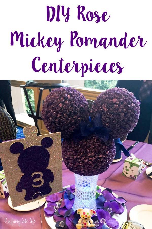DIY Rose Mickey Pomander Centerpieces
