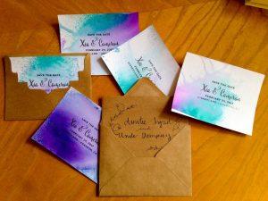 "DIY ""Fantasmic!"" Inspired Watercolor Save the Date Cards"
