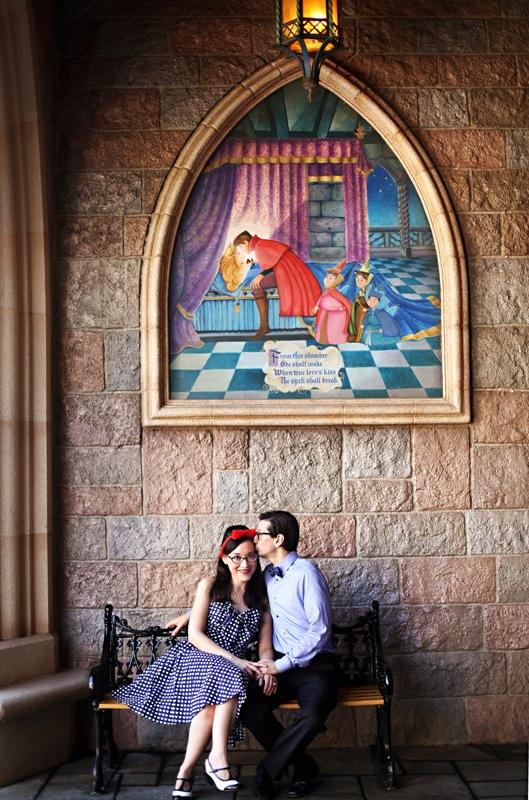 Hope and Mike's Retro Anniversary Shoot During Disneyland 60 // Nataly Lemus