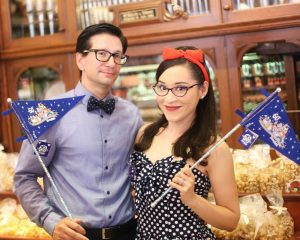 Hope and Mike's Retro Anniversary Shoot During Disneyland 60 // Nataly Lemus