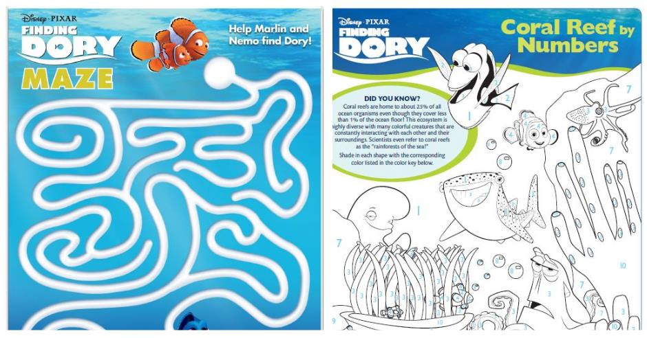 FINDING DORY Coloring Pages and Activities - This Fairy Tale Life