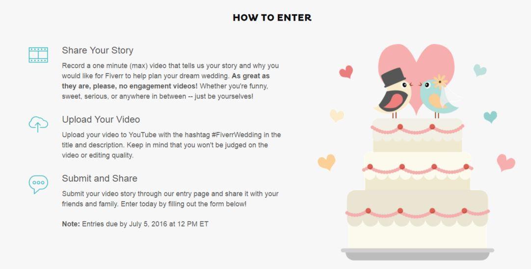 5 Easy Ways to Make Your Wedding Unique + Fiverr Wedding Sweep Contest