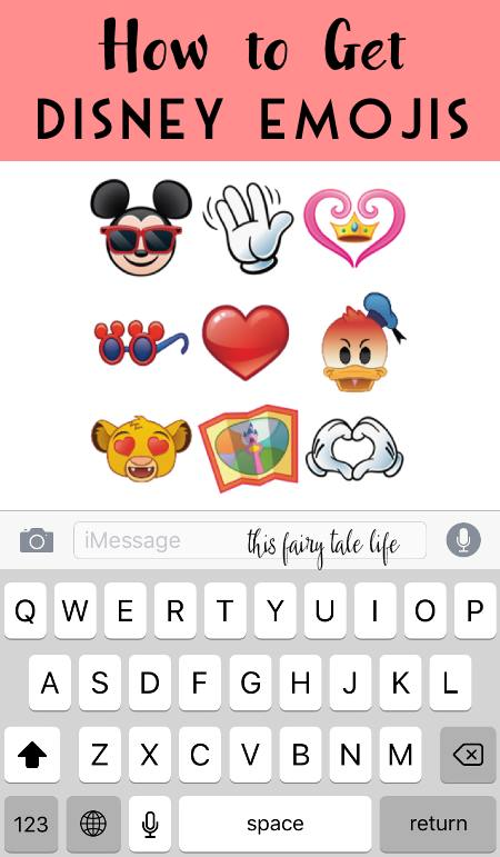 Here's How to Get Disney Emojis - This Fairy Tale Life