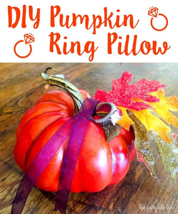 DIY Pumpkin Ring Pillow