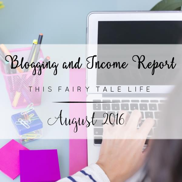 Blogging and Income Report - August 2016