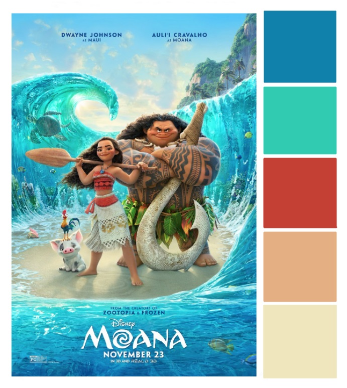 MOANA Poster Palette - This Fairy Tale Life